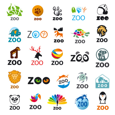 zoos: big set of vector icons zoo
