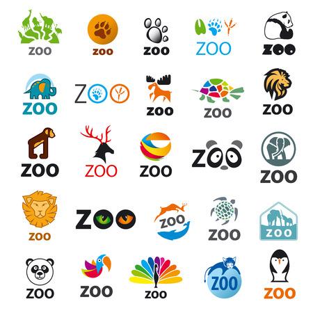 siluetas de elefantes: gran conjunto de iconos del vector zoo