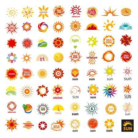 solarium: big set of vector icons sun