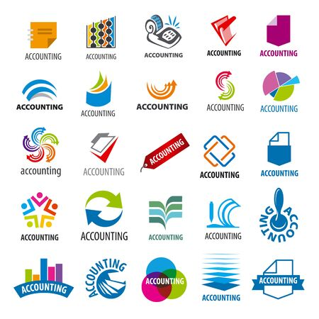 accounting design: biggest collection of vector icons accounting report Illustration