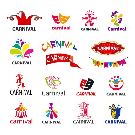 joker: big set of vector icons carnival Illustration