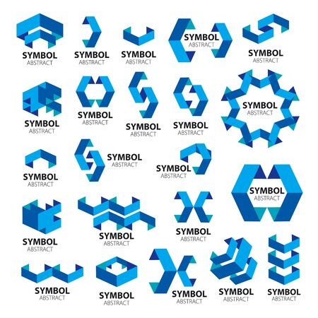 biggest collection of vector icons of geometric modules