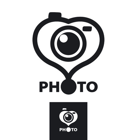 vector icon in the form of heart for the photographer Vector