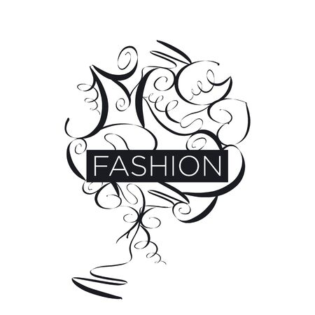 maquillage: Abstract vector icon fashion patterns Illustration