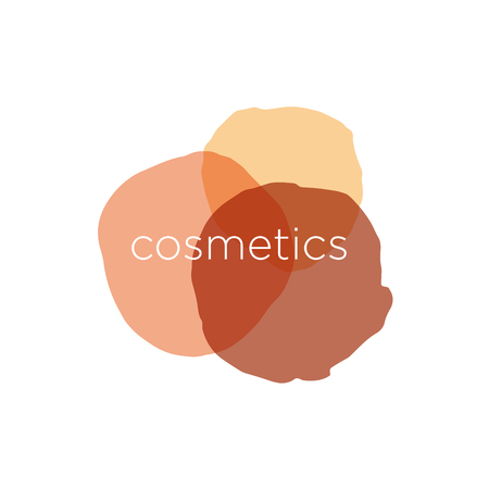 maquillage: Abstract vector icon for cosmetics and beauty