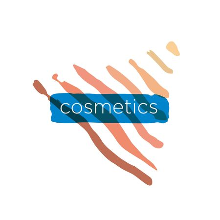 maquillage: Abstract vector icon pyramid for cosmetics