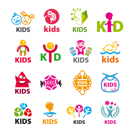 girl  child: large collection of vector icons children
