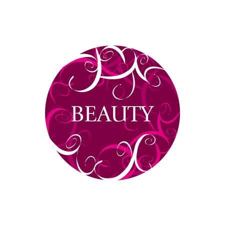 maquillage: round abstract vector icon for fashion