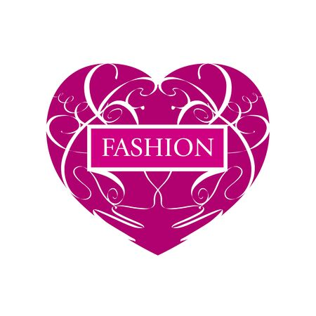 maquillage: vector icon fashionable heart of patterns Illustration