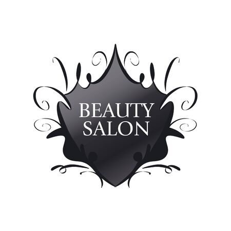 maquillage: Black trendy vector icon in the form of the coat of arms