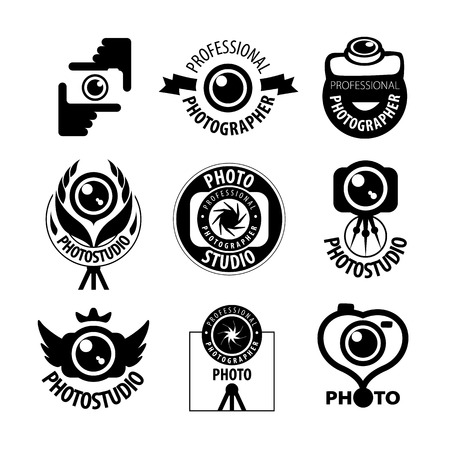 photographer: big set of vector icons for professional photographer Illustration