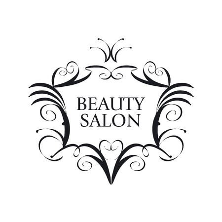 maquillage: trendy vector icon in the form of the coat of arms with crown