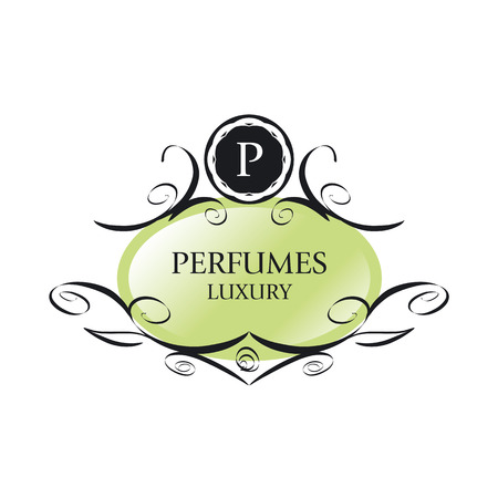 maquillage: abstract green vector icon for perfumes
