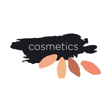 maquillage: Abstract vector icon for cosmetics and makeup