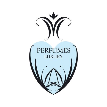 maquillage: Abstract vector icon with patterns for perfumery Illustration