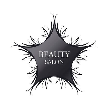 perfumery concept: vector icon black star for fashion Illustration