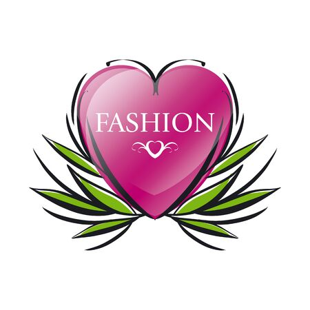 maquillage: vector icon red heart for fashion