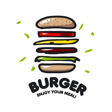 hamburguesa: icono de vector hamburguesa por la comida r�pida