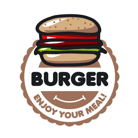 burger: vector icon burger for menu restaurant or cafe