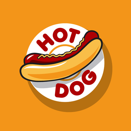 vector icon hot dog for fast food
