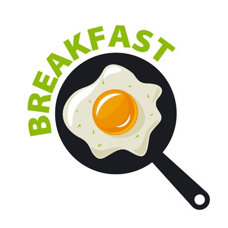 vector icon fried eggs for breakfast 向量圖像