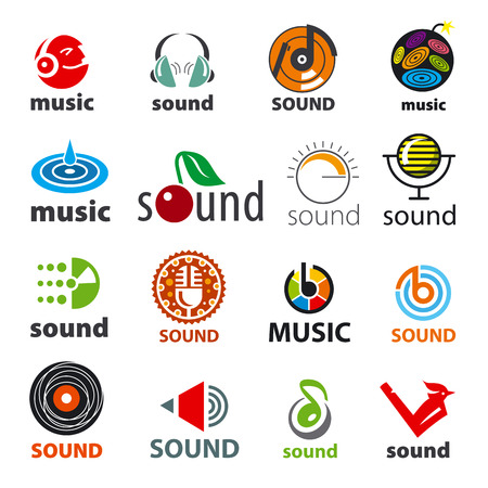 dj equipment: big set of vector icons sound and music
