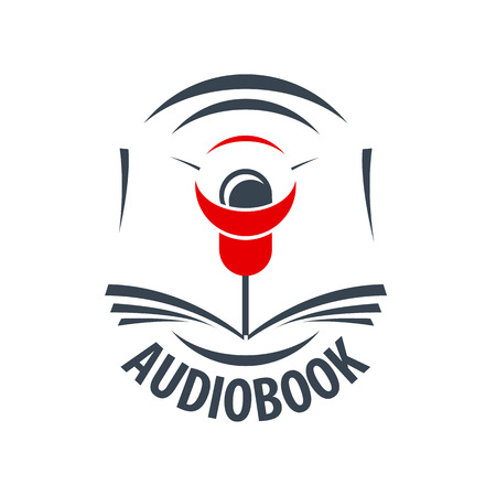 audiobook: vector icon audiobook with a red speaker