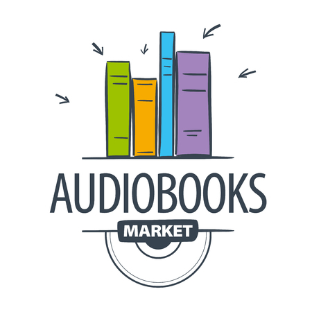 audiobook: vector icon audiobook, books attacked cursors Illustration