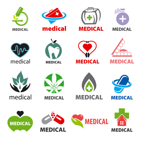 medical cross symbol: biggest collection of vector icons medical Illustration