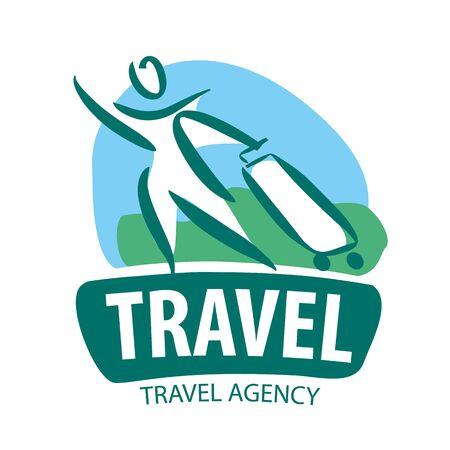 turista: �cone do vetor turista viajar com uma mala de viagem
