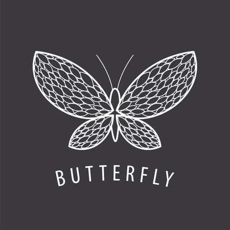 petal: vector  elegant white butterfly petal Illustration