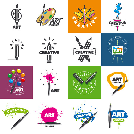 paint brush: biggest collection of vector  design creativity and art Illustration