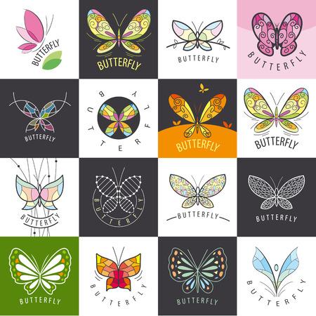 papillon: grand ensemble de papillons vecteur Illustration