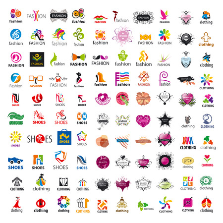 biggest collection of vector logo design and fashion clothes Stock Vector - 39633637