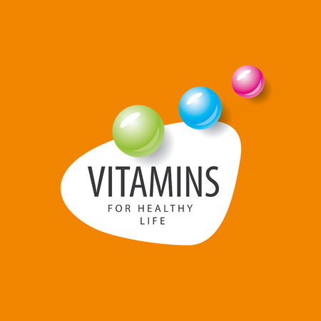 vitamins: vector colored round vitamins Illustration