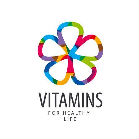 pilule: vitaminas del vector de flores de colores