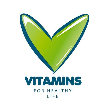 pilule: vector vitaminas con marca verde Vectores