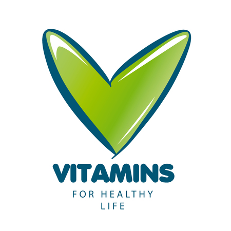 vitamins: vector vitamins with green tick