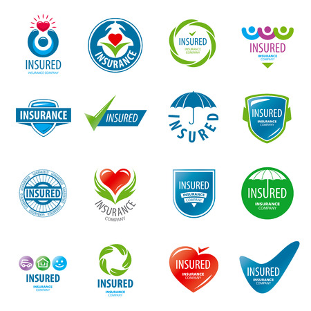 care: large set of vector icon insurance Illustration