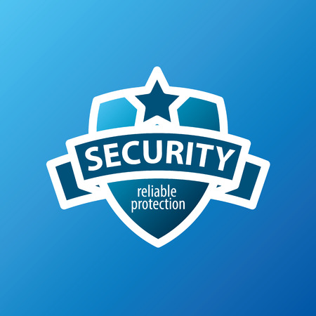 police badge: vector icon for security services in the form of shield Illustration