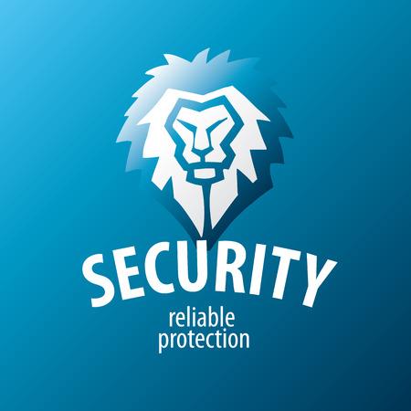 guardia de seguridad: logo le�n vector para guardias de seguridad
