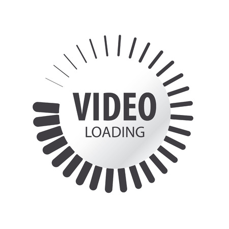 abstract vector video loading