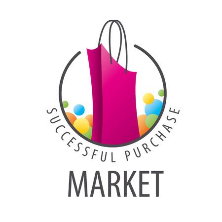 shopping store: burgundy shopping bag Illustration