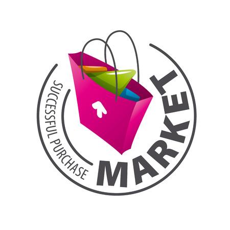 ラウンドのベクトルのロゴ ショッピング バッグ