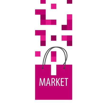 tetris: vector logo shopping bag Tetris