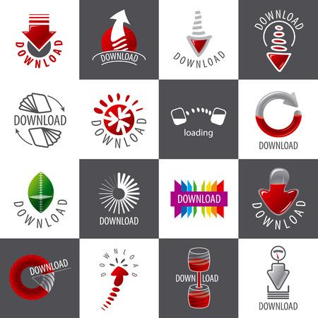 torrent: large set of vector logos for download Illustration