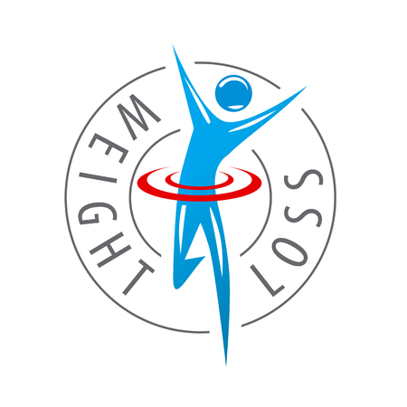 symbol sport: Vektor laufenden Mann für die Gewichtsabnahme