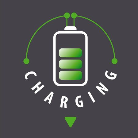 amperage: vector  battery is recharged via a cable