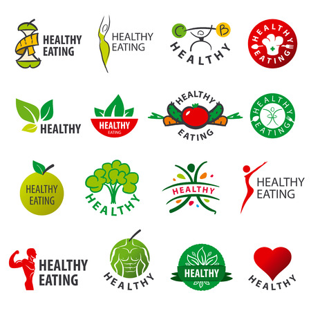 eating healthy: biggest collection of vector  healthy eating