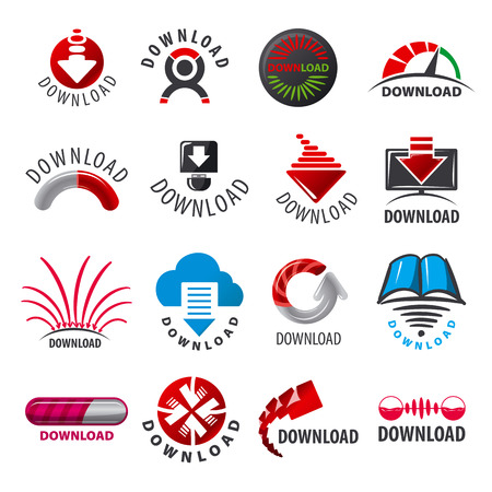 torrent: large set of vector logos for download Illustration